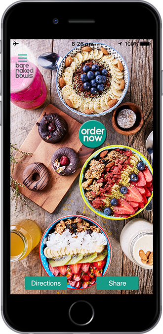 Bare Naked Bowls Mobile App