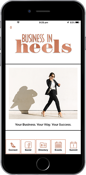 Business In Heels Mobile App powered by App City