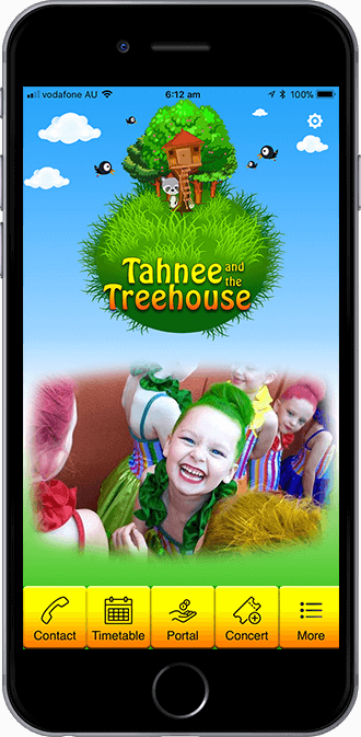 Tahnee and The Treehouse Mobile App powered by App City