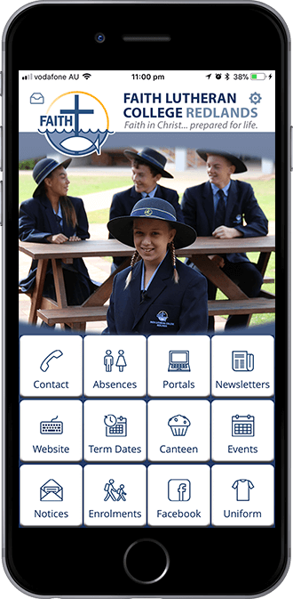 Faith Lutheran College Redlands mobile app powered by App City