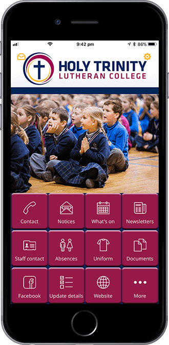 Holy Trinity Lutheran College Mobile App powered by App City