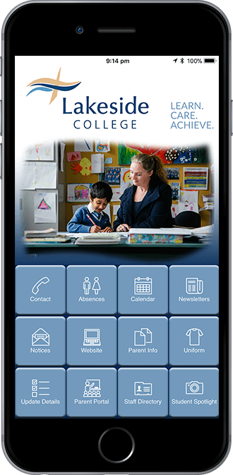 Lakeside College Mobile App powered by App City