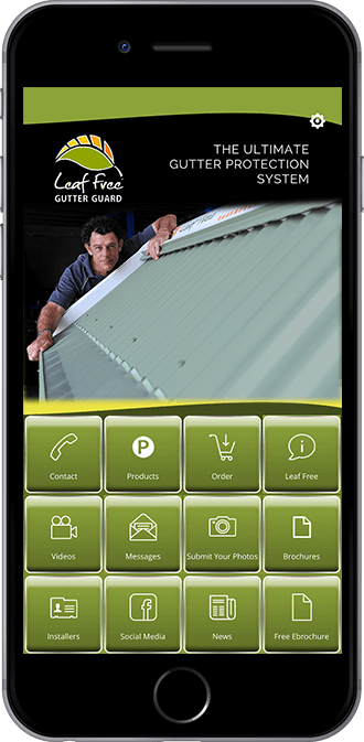 Leaf Free Gutter Guard Mobile App powered by App City