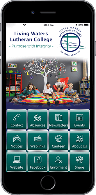 Living Waters Lutheran College Mobile App powered by App City