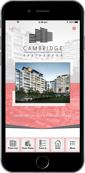 Cambridge Residences Mobile App powered by App City